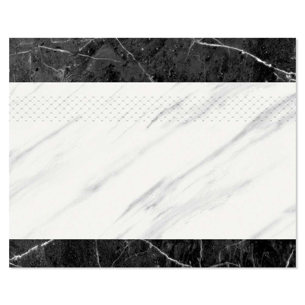 Calcatta Marmor Dekor Svart-Vit 20x25 cm