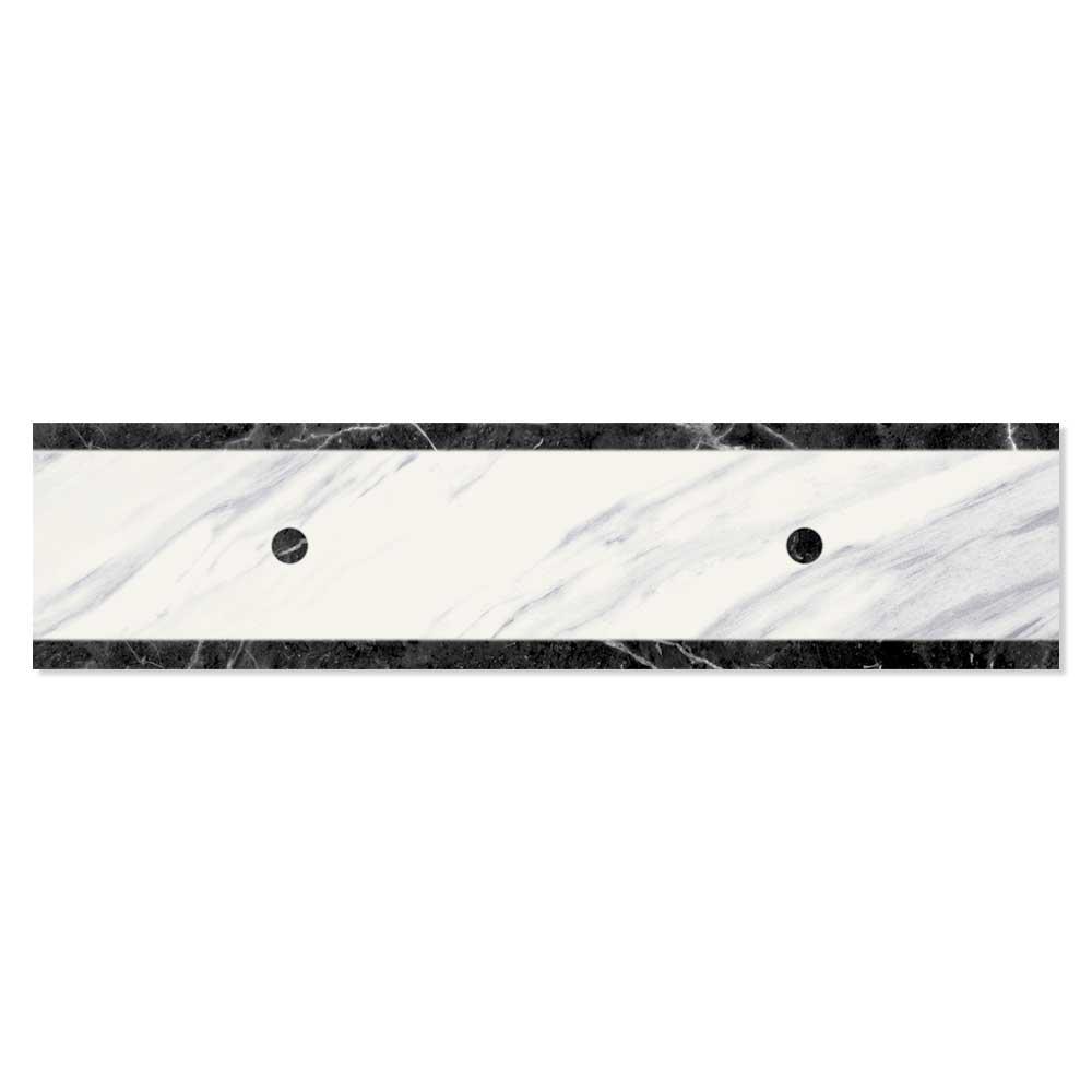 Calcatta Marmor Dekor Svart-Vit 6x25 cm