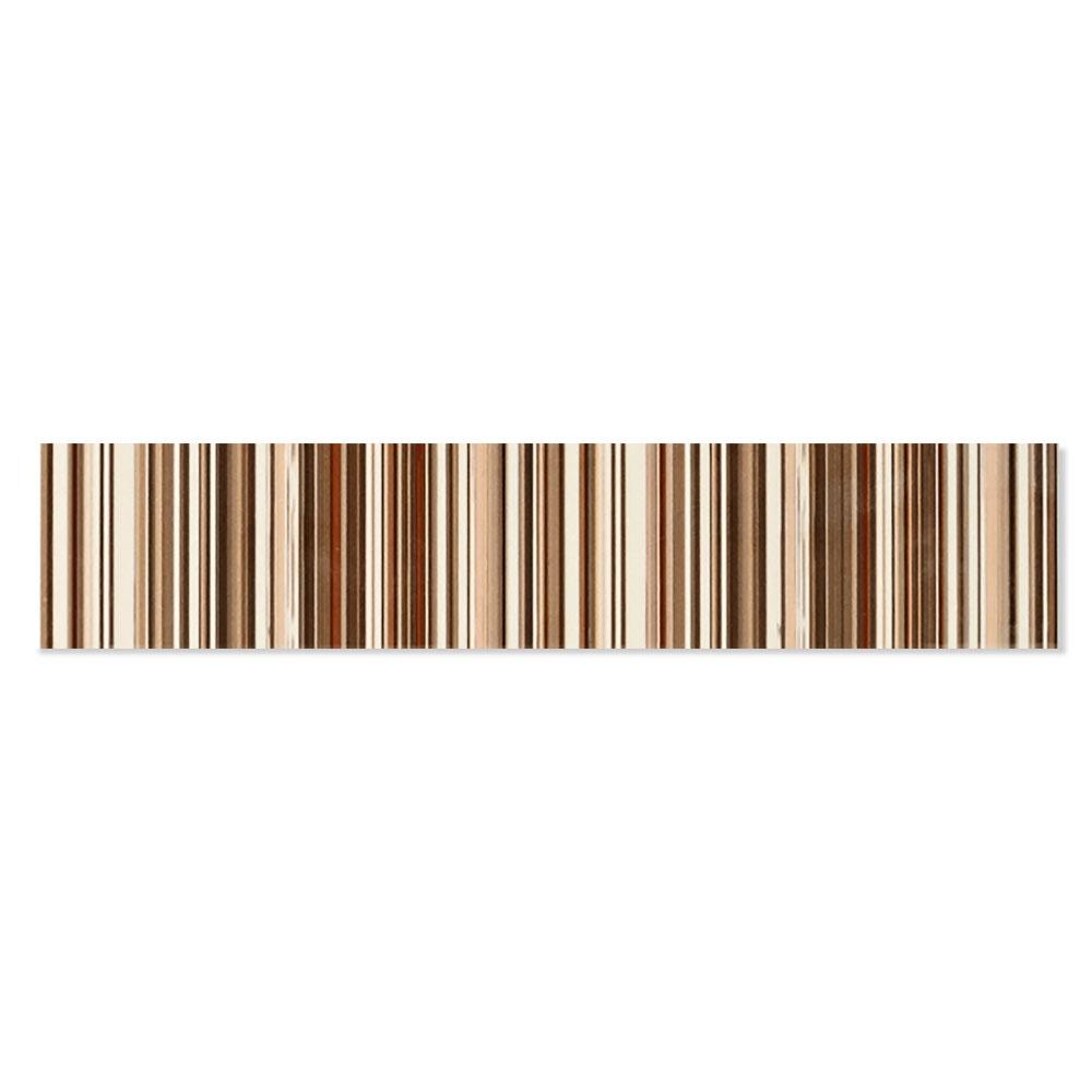 Kakel Ada Flerfärgad Brun 5x25 cm