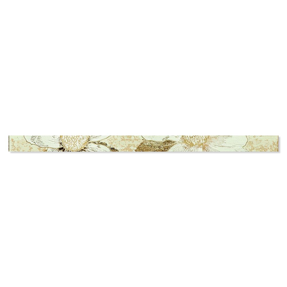 Blommigt Kakel Almere Flerfärgad Beige 4.5x75 cm