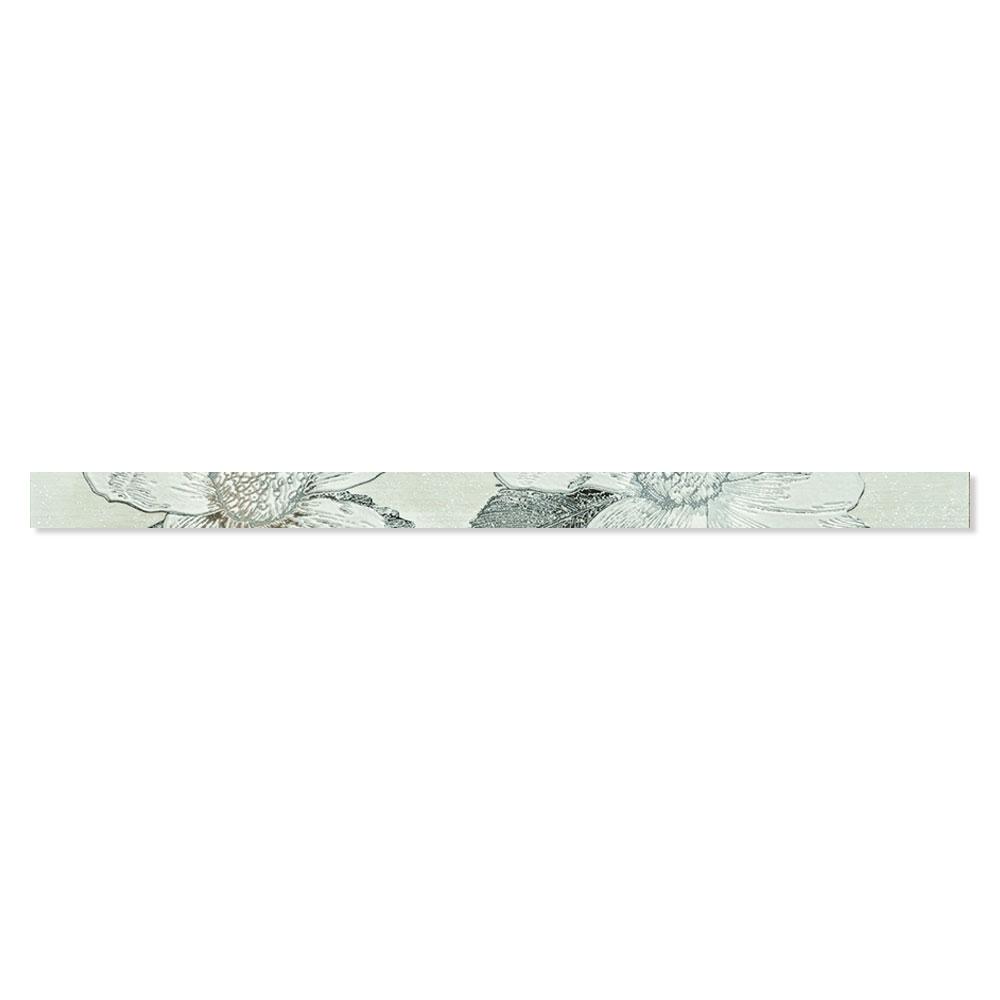 Blommigt Kakel Almere Flerfärgad Blå 4.5x75 cm