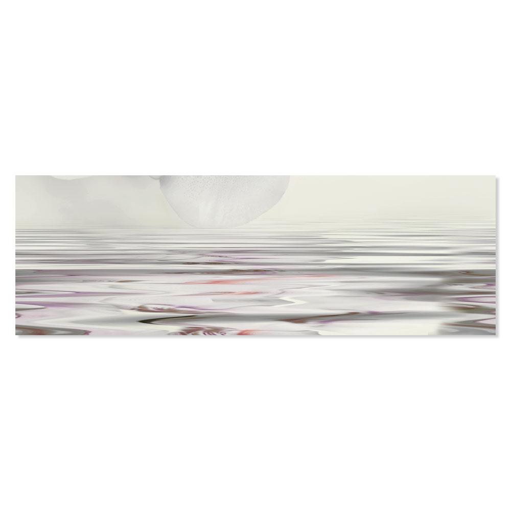 Blommigt Kakel Wave Violet 25x75 cm