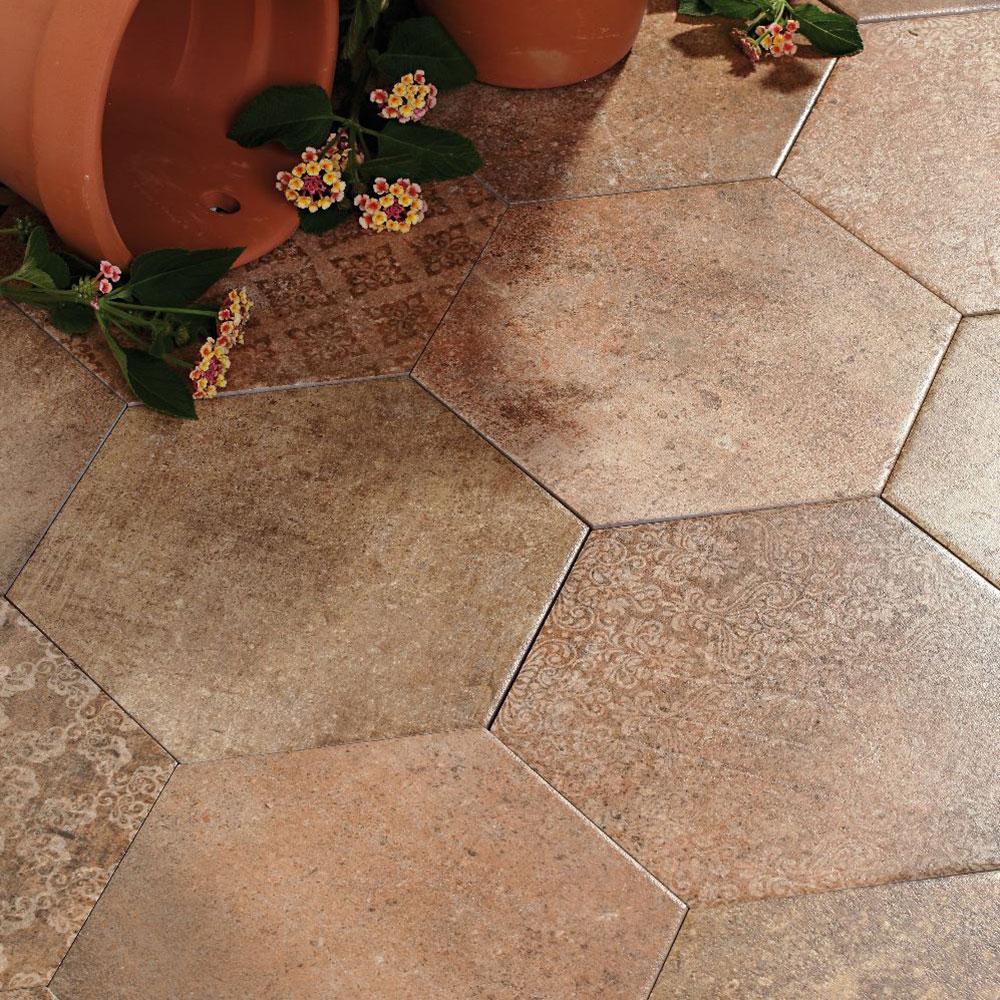 Hexagon Klinker Abadía Brun 25x22 cm
