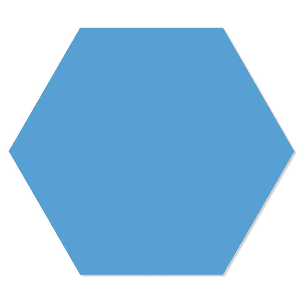 Hexagon Klinker Basic Blå 25x22 cm
