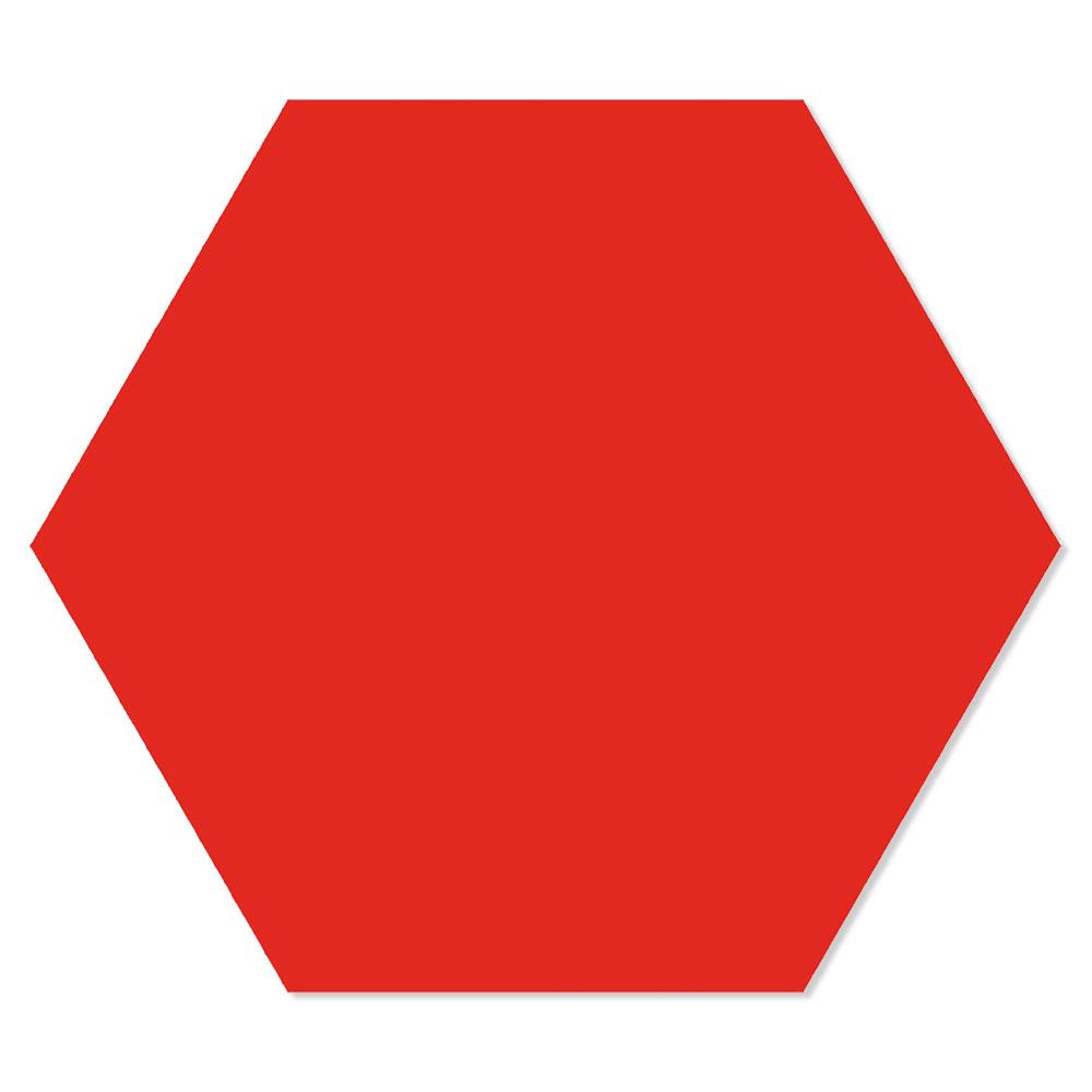 Hexagon Klinker Basic Röd 25x22 cm