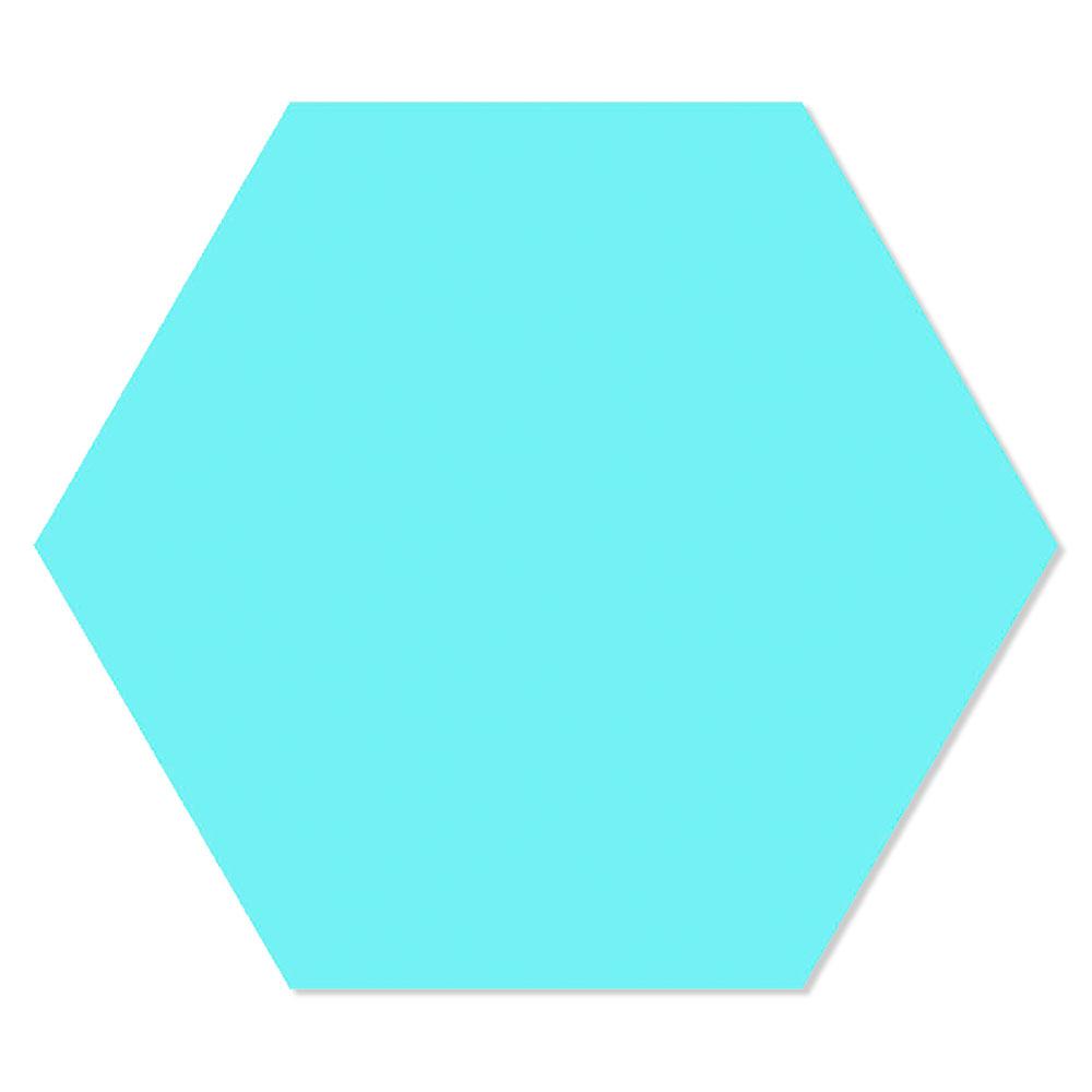 Hexagon Klinker Basic Turkos 25x22 cm