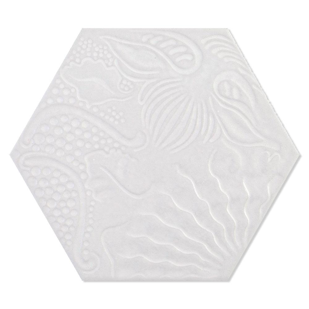 Hexagon Klinker Gaudi Vit 22x25 cm