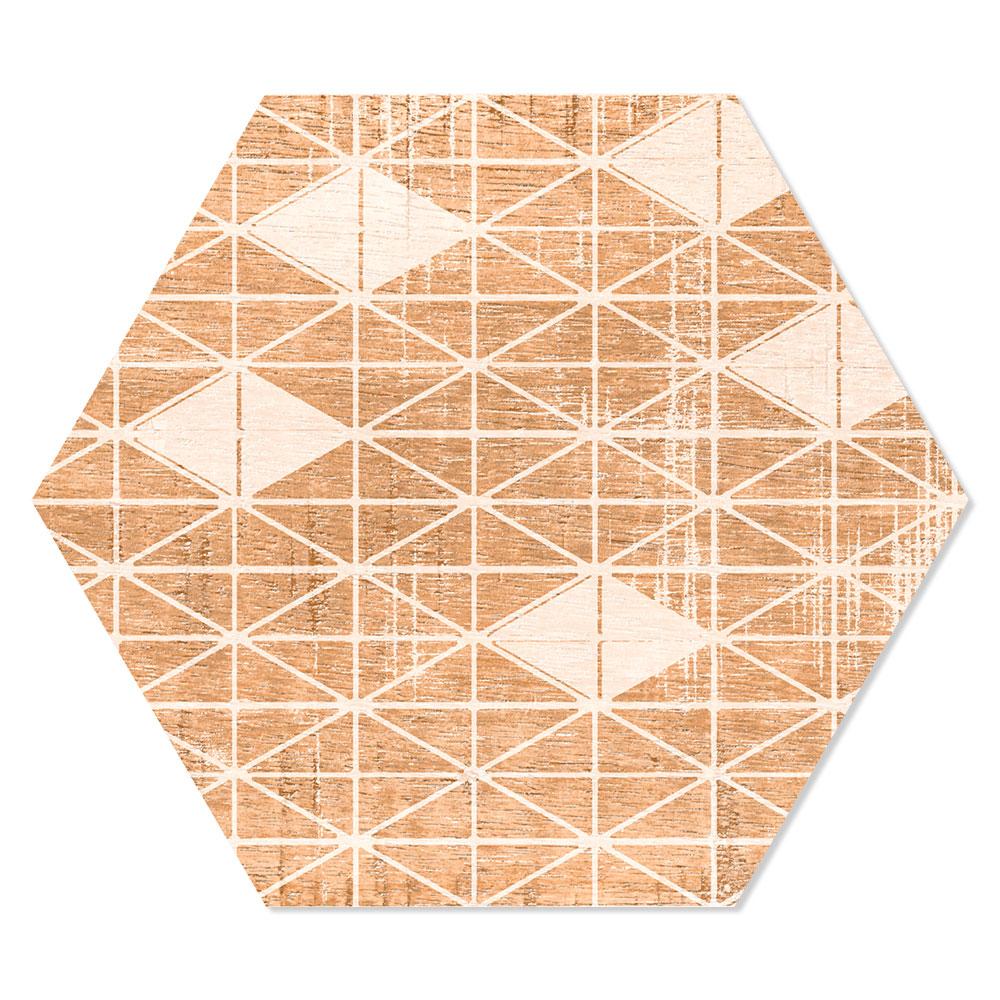 Hexagon Klinker Harlem Hex 25 Beige-Brun Mönstrad 25x22 cm