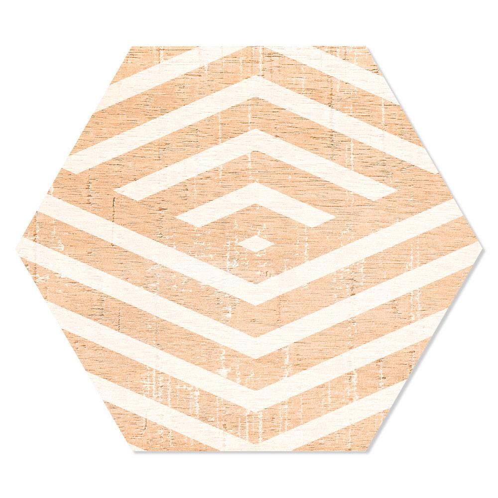 Hexagon Klinker Harlem Hex 25 Beige Mönstrad 25x22 cm