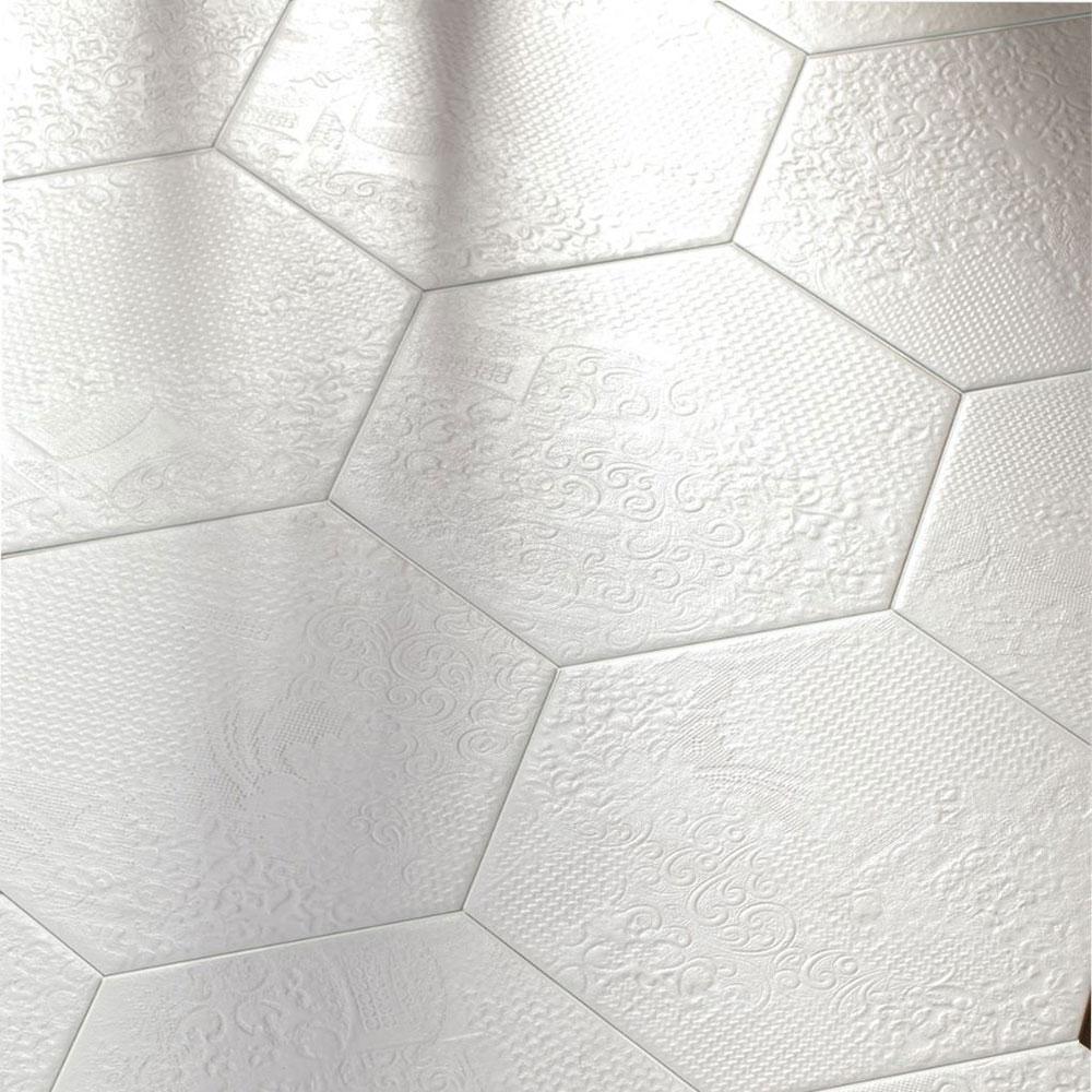 Hexagon Klinker Milano Vit 25x22 cm