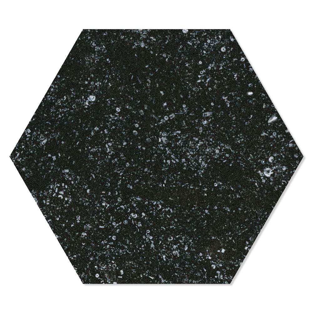 Hexagon Klinker Mons Black Svart 25x22 cm