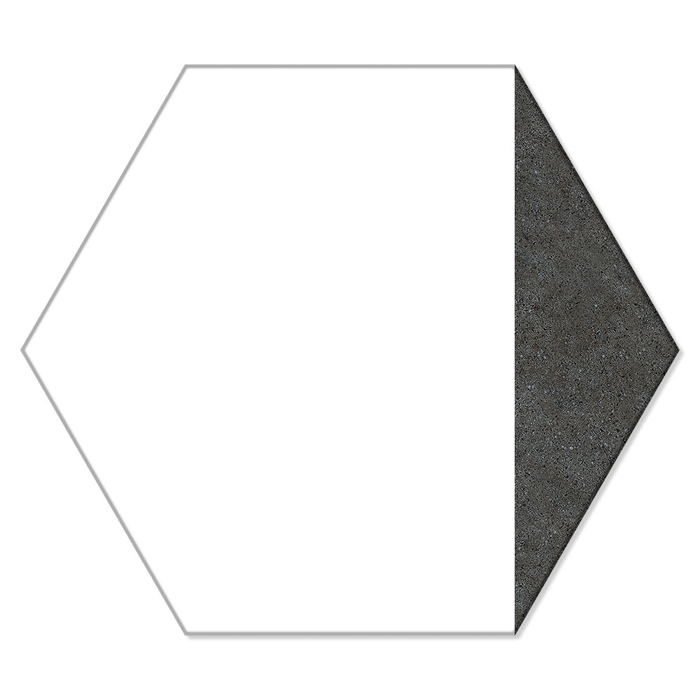 Hexagon Klinker Peak Vit 25x22 cm