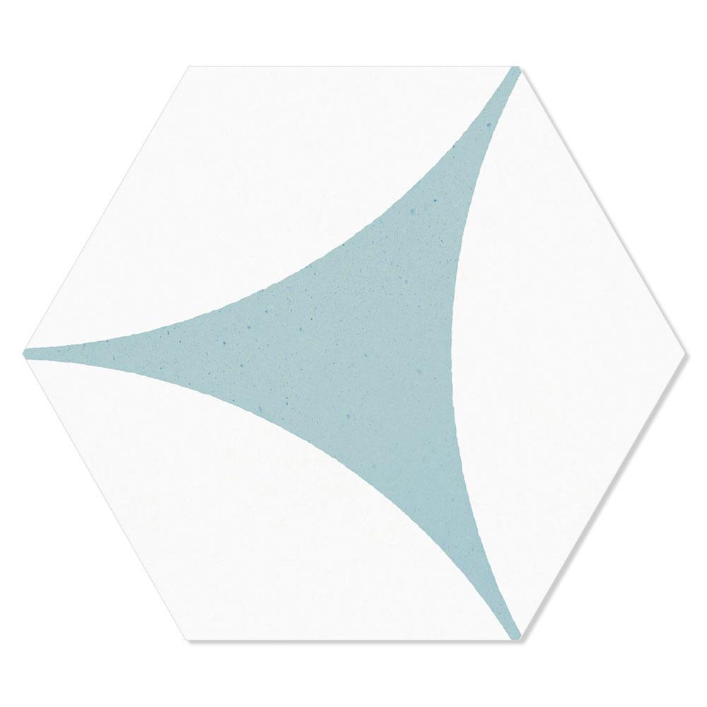 Hexagon Klinker Porto Hex 25 Grå Mönstrad 25x22 cm
