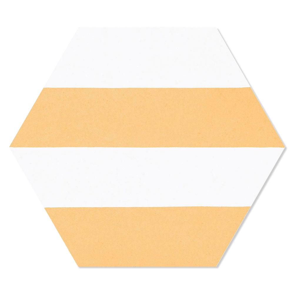 Hexagon Klinker Porto Hex 25 Gul Linje1 25x22 cm