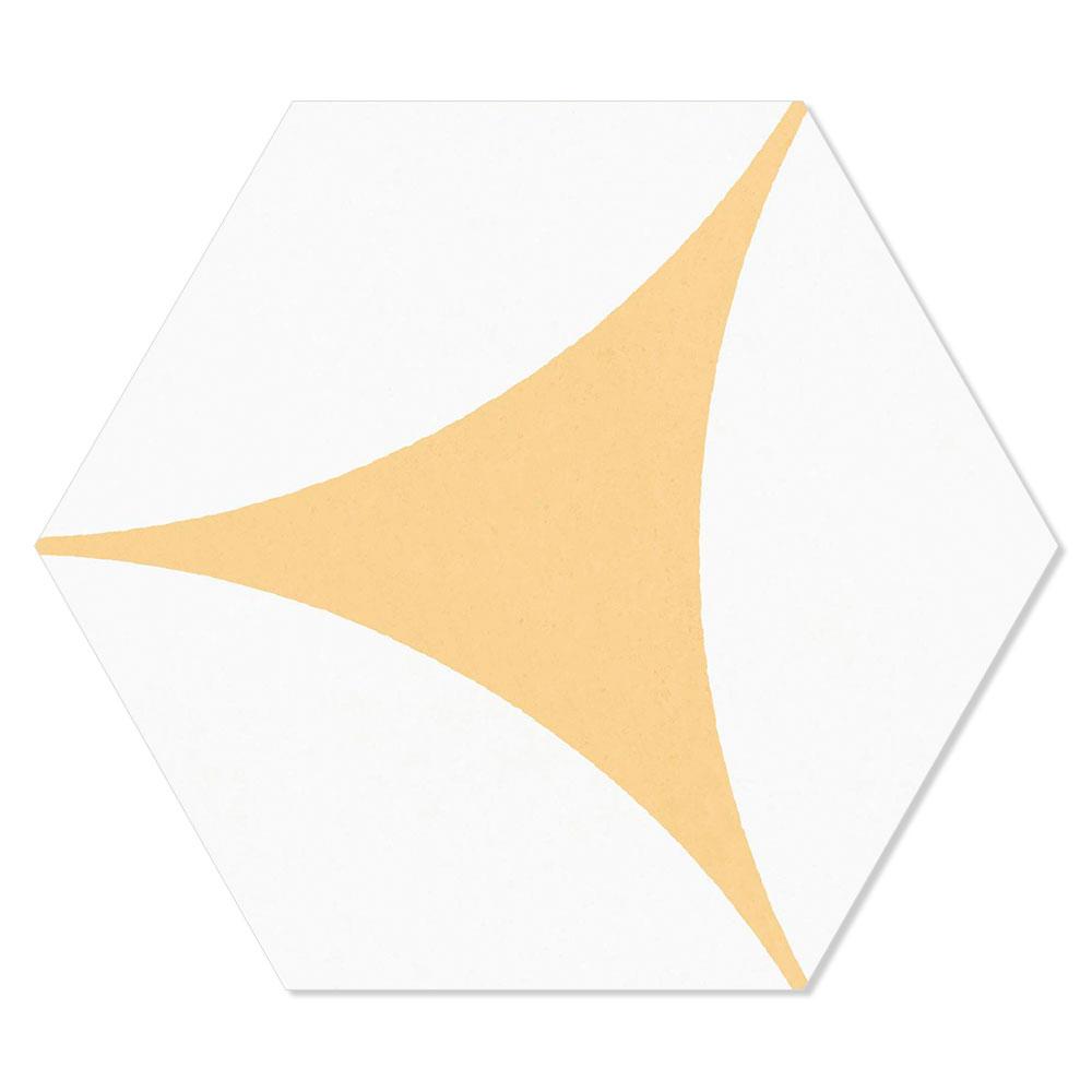 Hexagon Klinker Porto Hex 25 Gul Mönstrad 25x22 cm