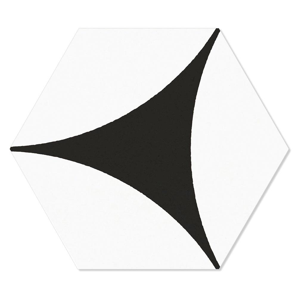 Hexagon Klinker Porto Hex 25 Svart Mönstrad 25x22 cm