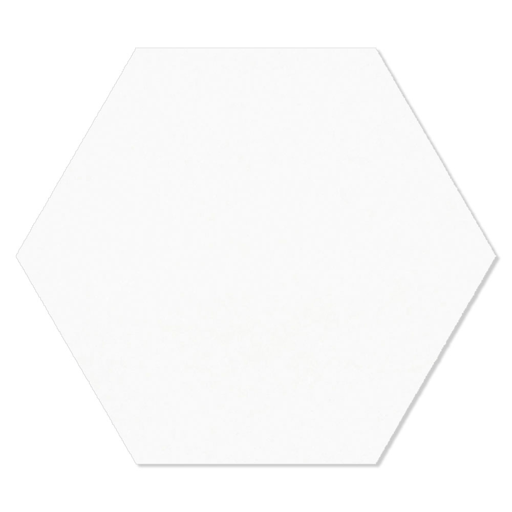 Hexagon Klinker Porto Hex 25 Vit 25x22 cm