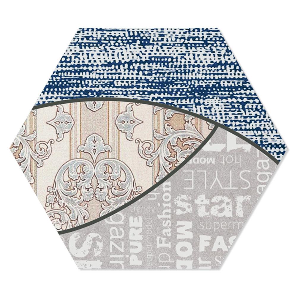 Hexagon Klinker Rapsodia Flerfärgad 25x22 cm