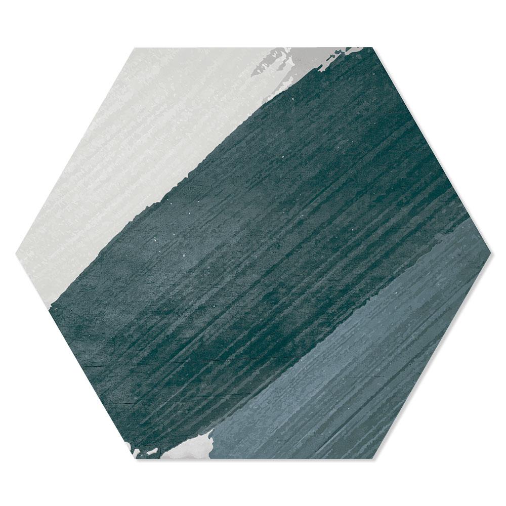 Hexagon Klinker Rothko Hex 25 Flerfärgad Grå Mönstrad 25x22 cm