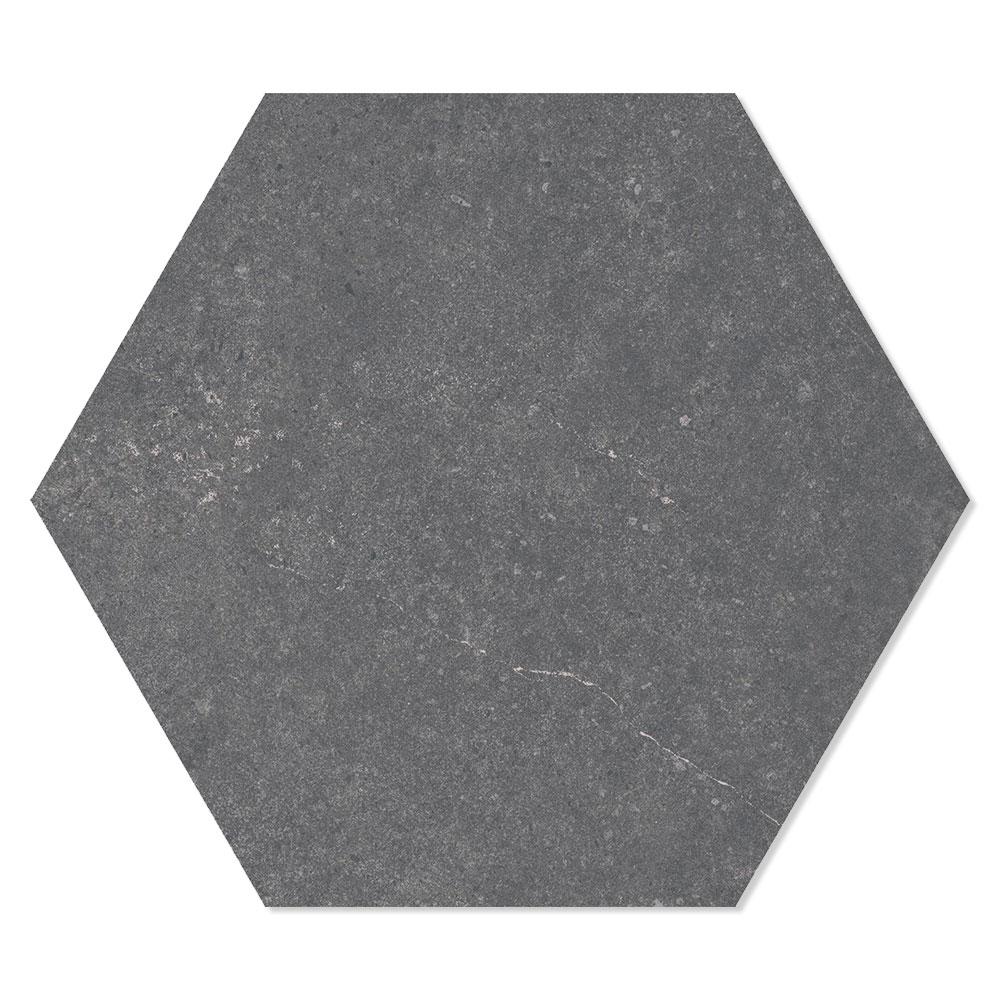 Hexagon Klinker Traffic Hex 25 Mörkgrå 25x22 cm