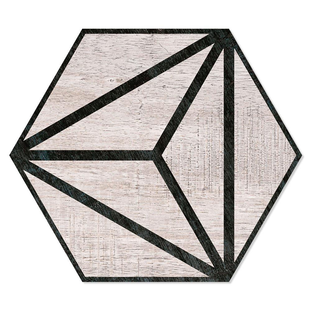 Hexagon Klinker Tribeca Ljusgrå 25x22 cm