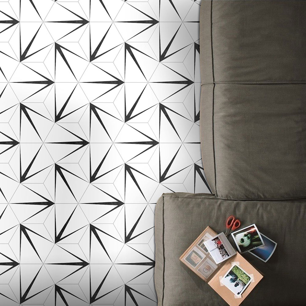 Hexagon Klinker Trident Vit 25x22 cm