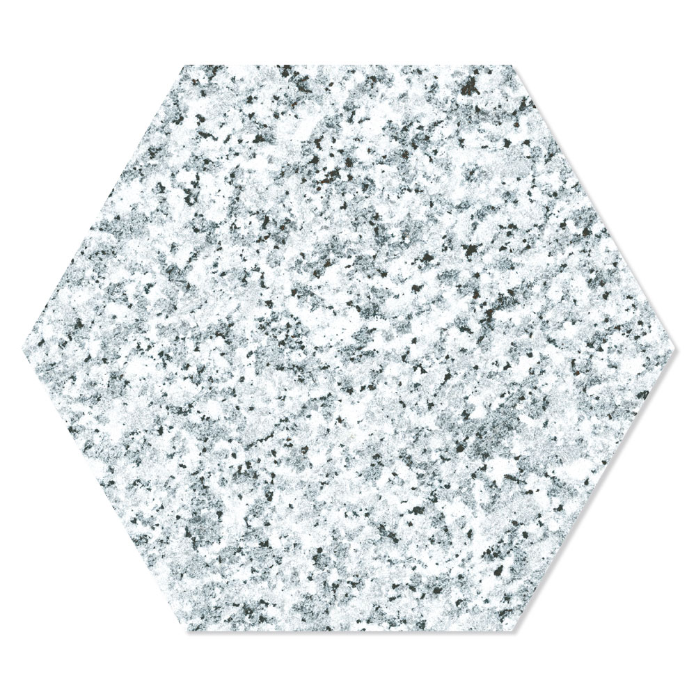 Hexagon Klinker Granite Vit 25x22 cm