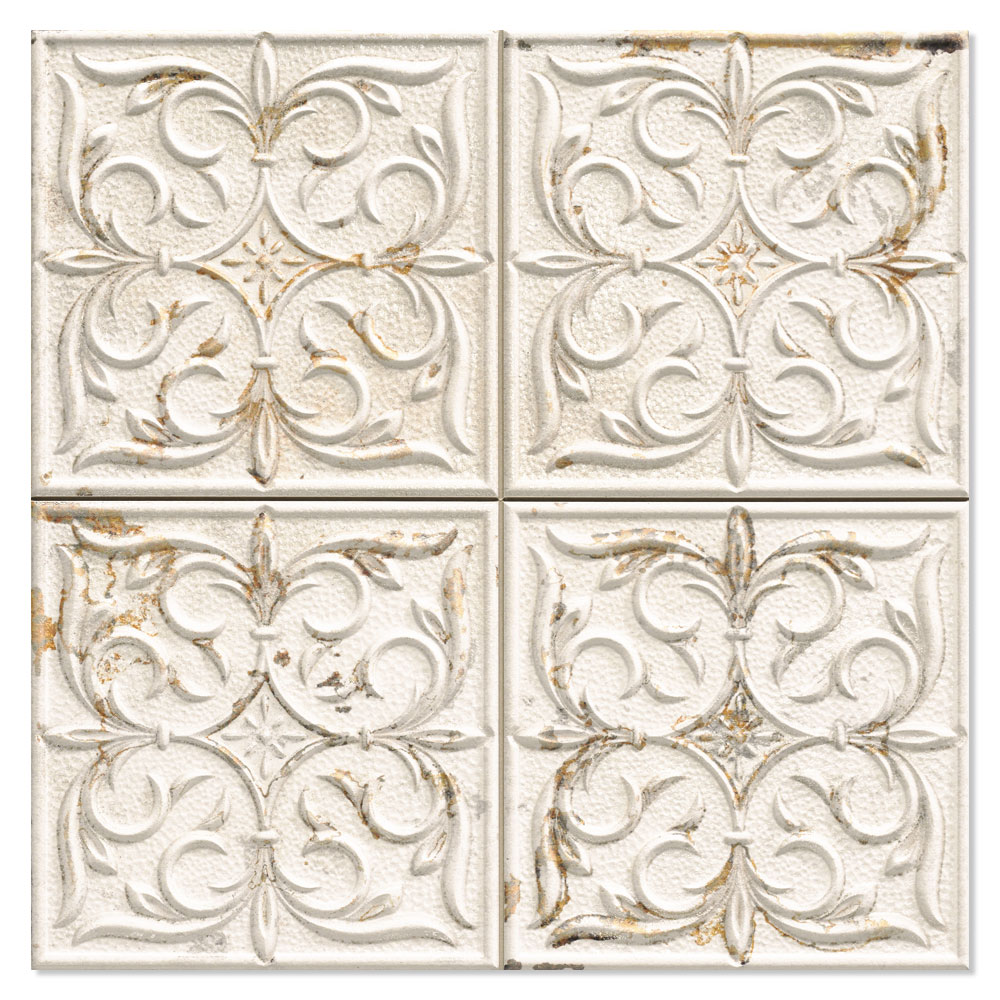 Kakel Antigua Vit Mönstrad 33x33 cm