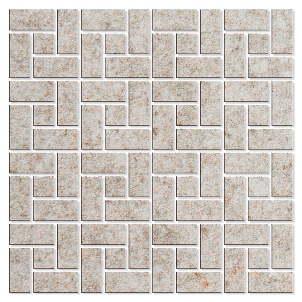 Mosaik Klinker Fidenza Beige Halvpolerad Rak 29x29 cm