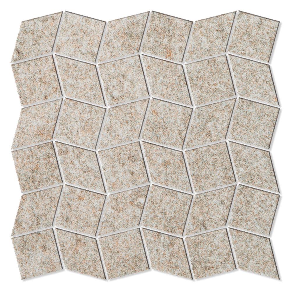 Mosaik Klinker Fidenza Beige Halvpolerad Rak 30x30 cm