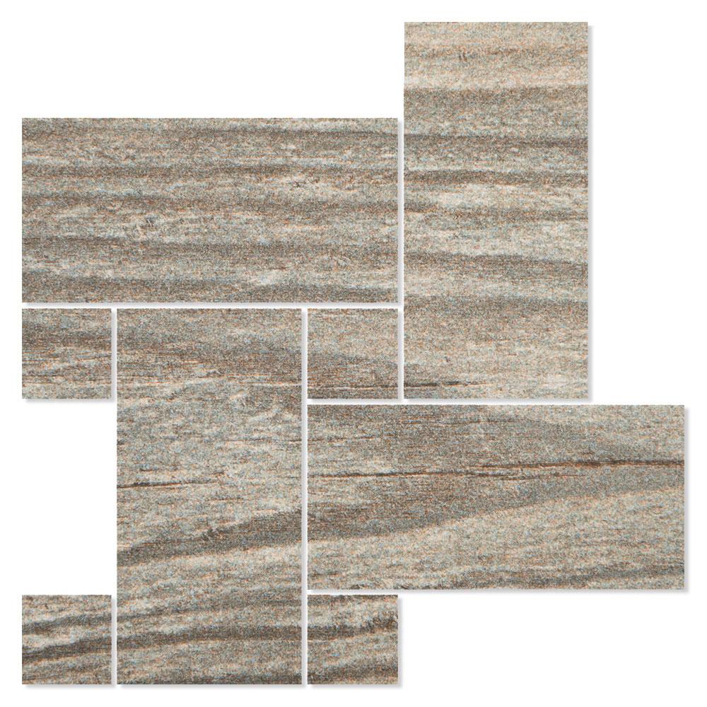 Dekor Träklinker Marsala Grå 22x22 cm