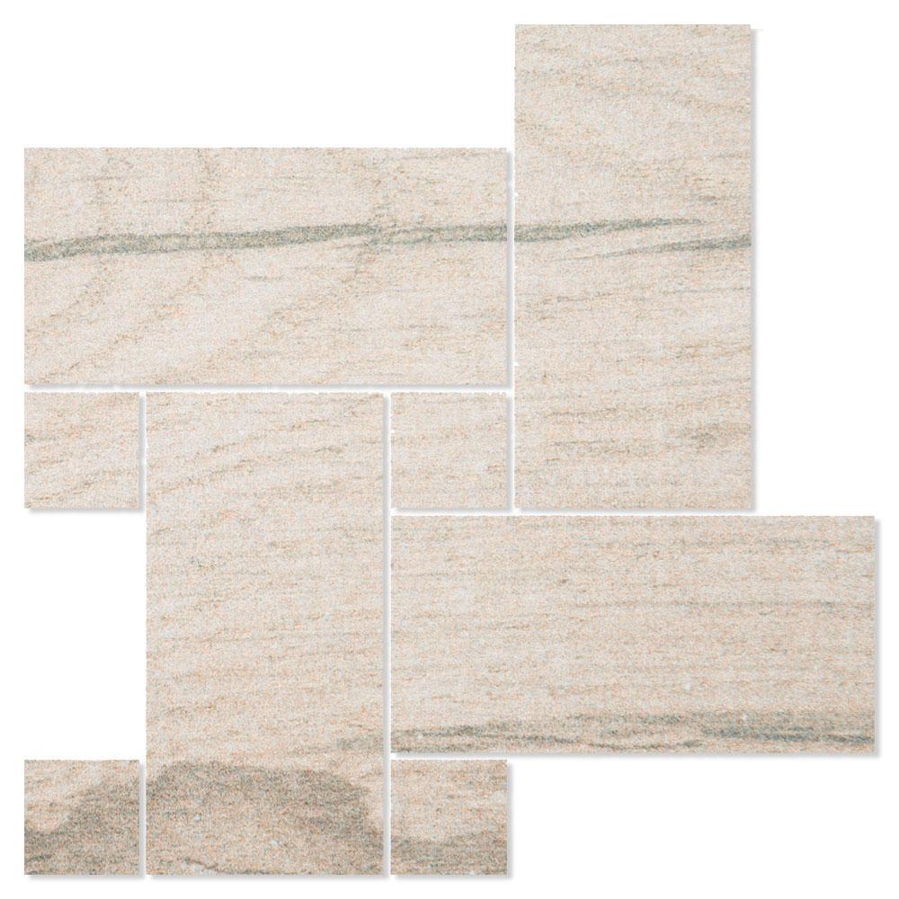 Dekor Träklinker Marsala Ljusgrå Halkfri 22x22 cm