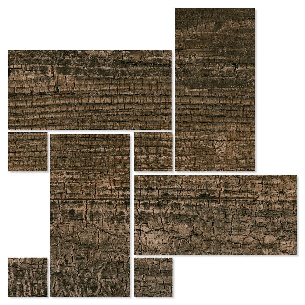 Dekor Träklinker Seleni Brun 22x22 cm