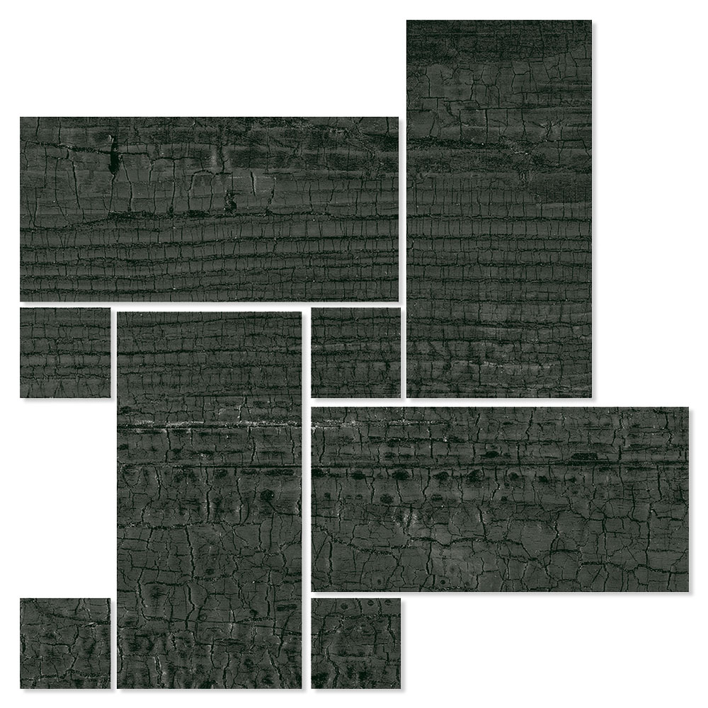 Dekor Träklinker Seleni Svart 22x22 cm