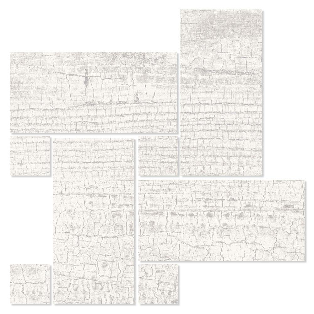 Dekor Träklinker Seleni Vit 22x22 cm