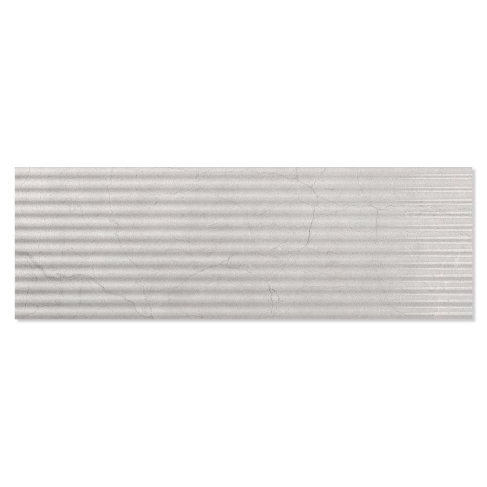 Dekor Kakel Berluzzi Ljusgrå Blank-Relief 30x90 cm