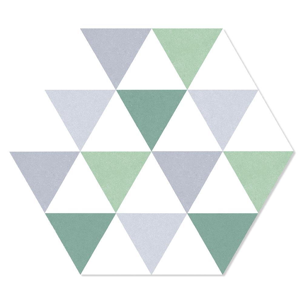 Hexagon Klinker Deltta Grön 25x22 cm