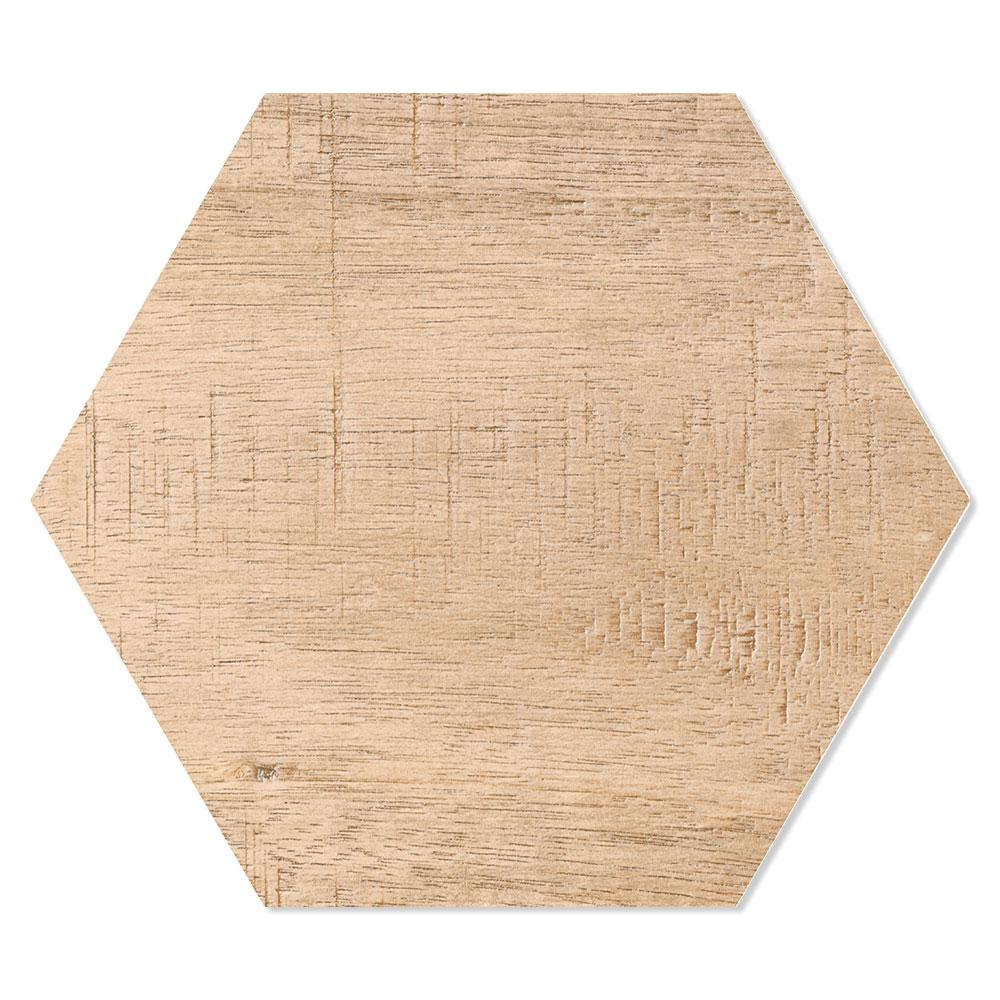 Hexagon Klinker Sanwood Brun 25x22 cm