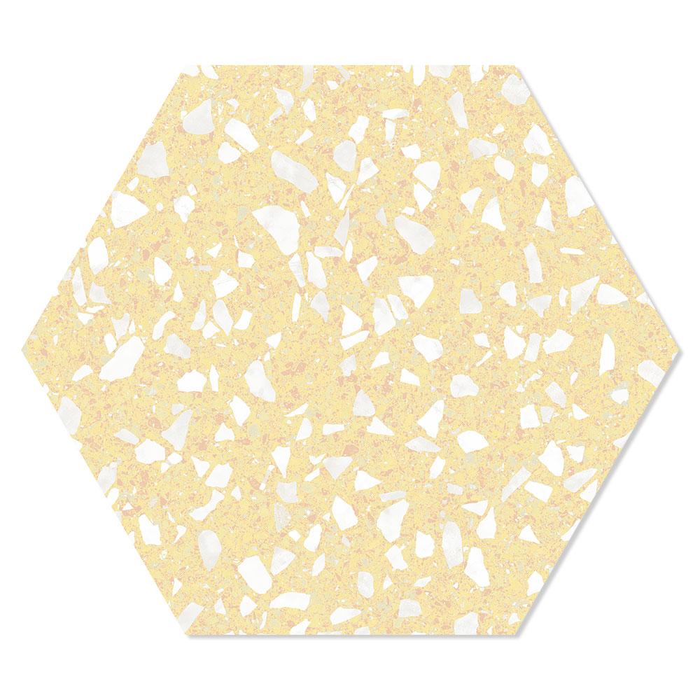 Hexagon Klinker Venice Gul 25x22 cm
