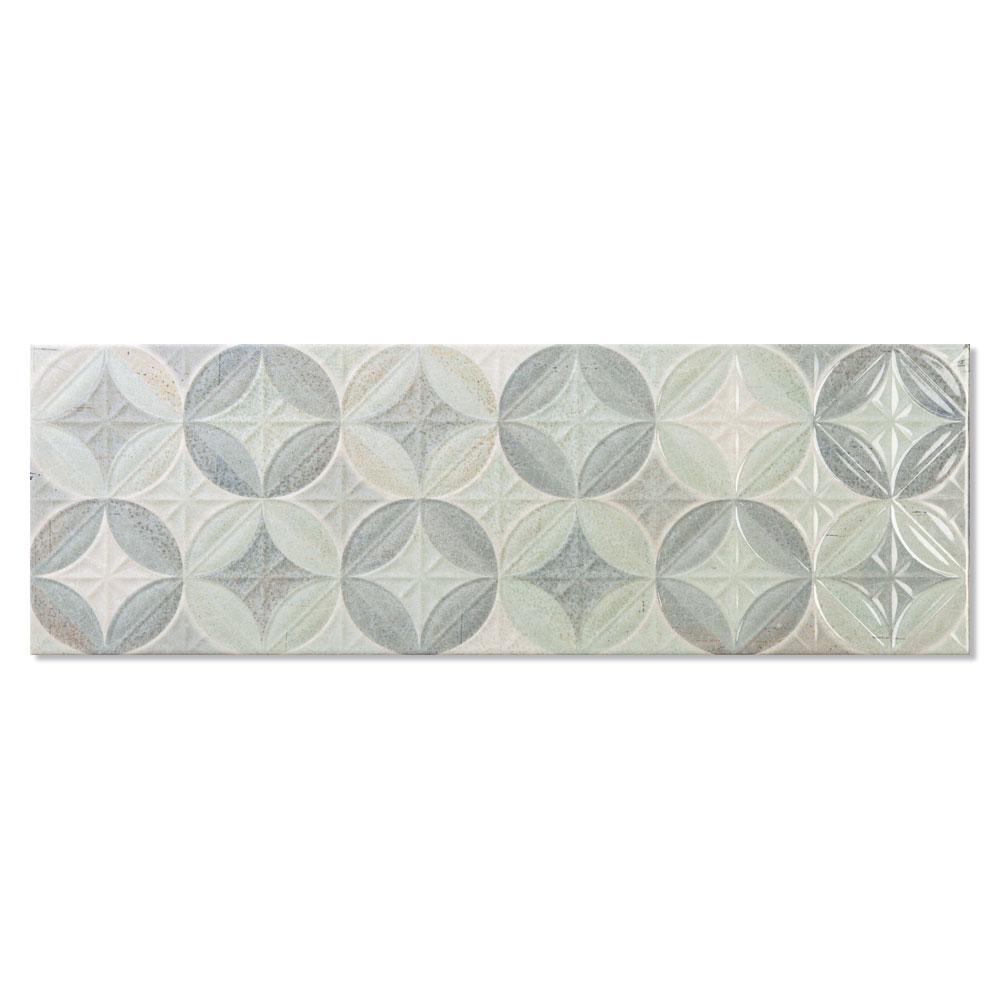 Dekor Kakel Calanque Flerfärgad Rund Mönstrad 1 Blank 25x75 cm