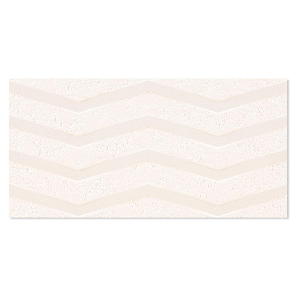 Dekor Kakel Chalk Beige Matt-Relief Rak 30x60 cm