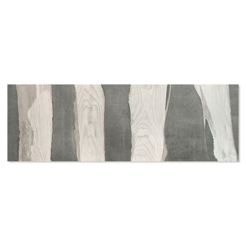 Dekor Kakel Channel Flerfärgad Silver 30x90 cm