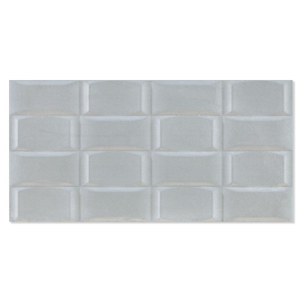 Dekor Kakel Flow Grå Blank-Relief Rak 30x60 cm