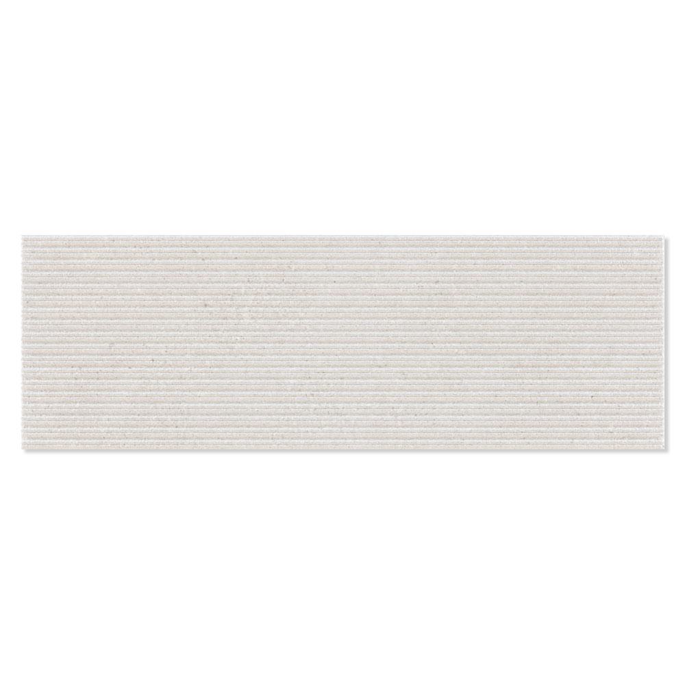 Dekor Kakel Kalksten Ljusgrå Matt-Relief Rund 25x75 cm