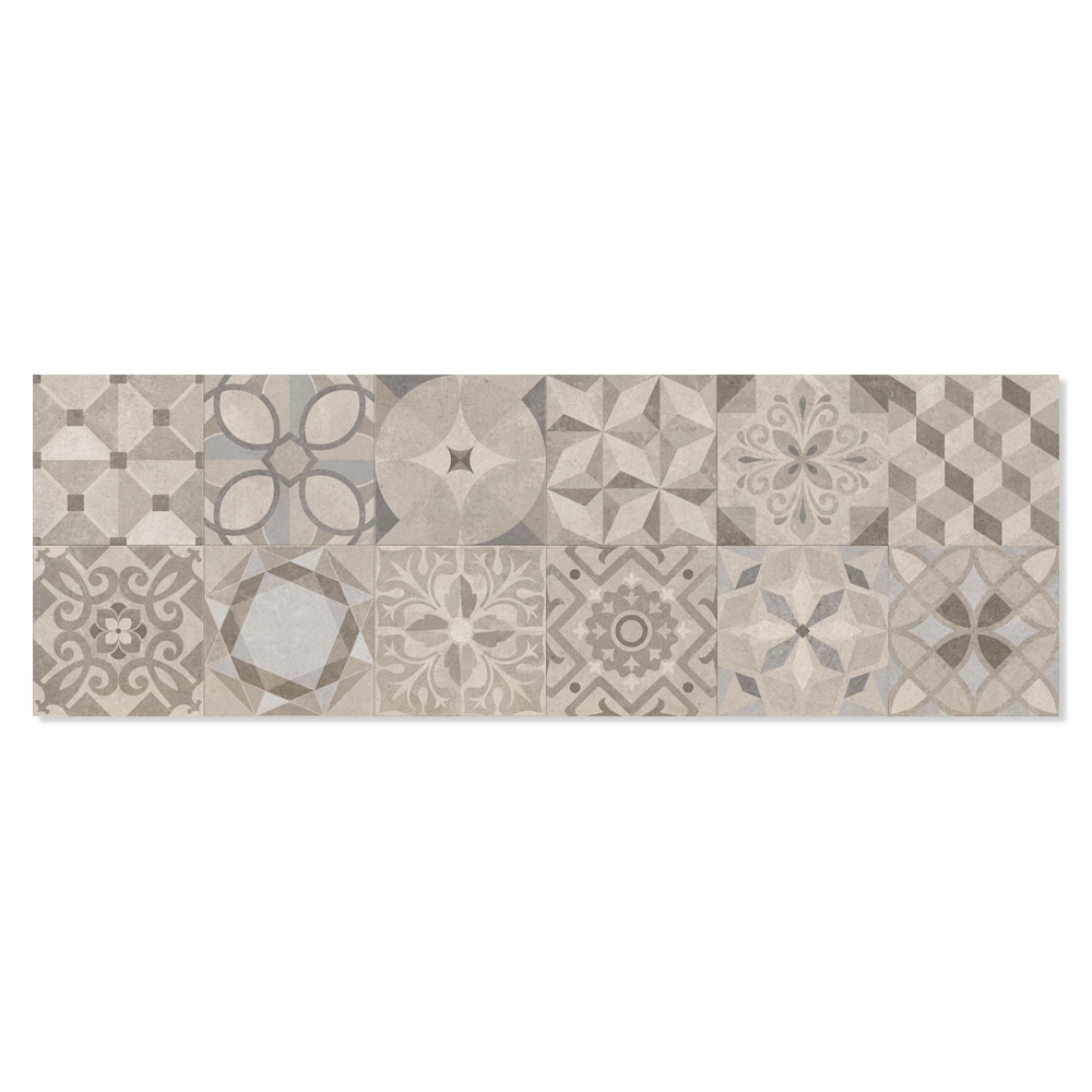 Dekor Kakel Powder Flerfärgad Warm Matt Rund 25x75 cm