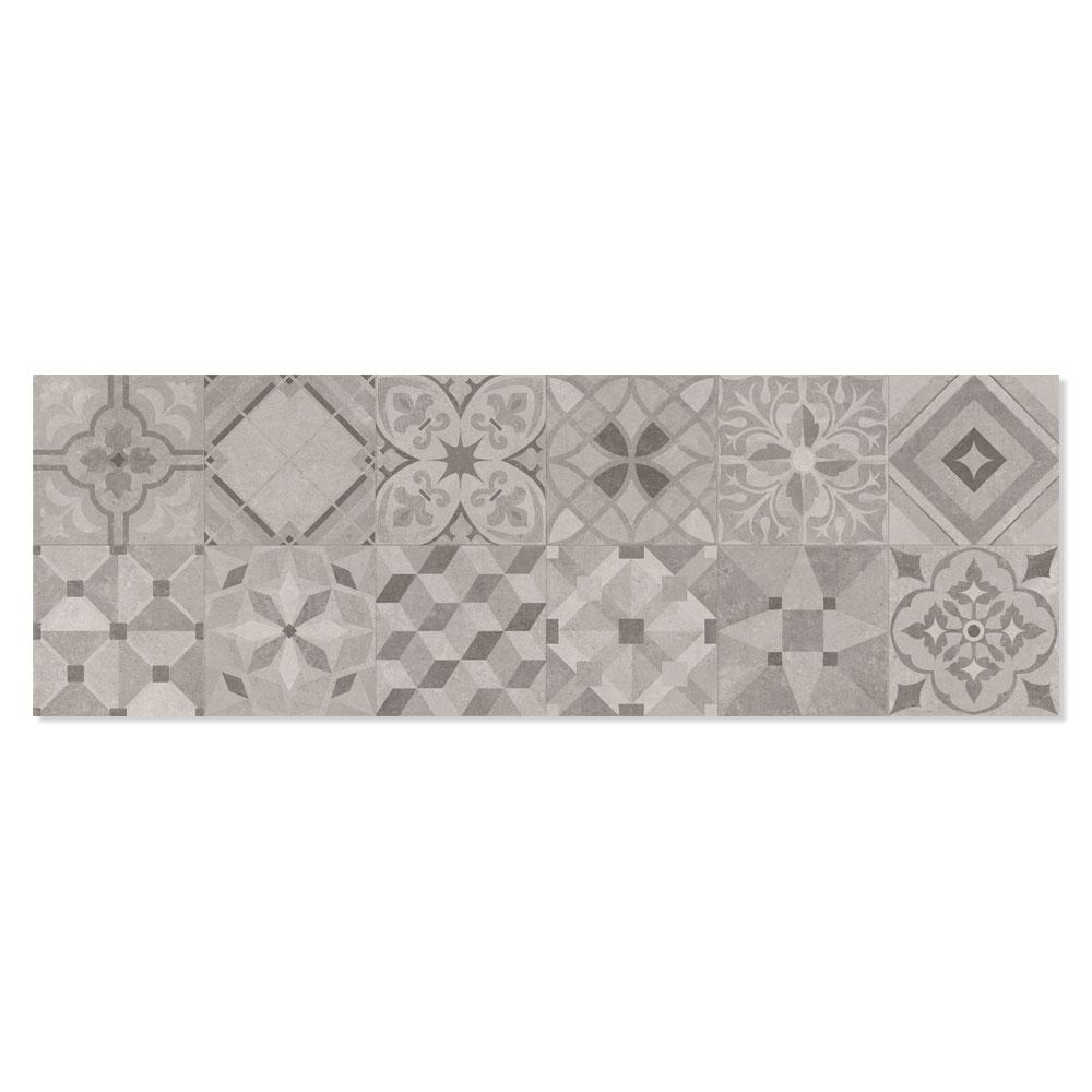 Dekor Kakel Powder Flerfärgad Cold Matt Rund 25x75 cm