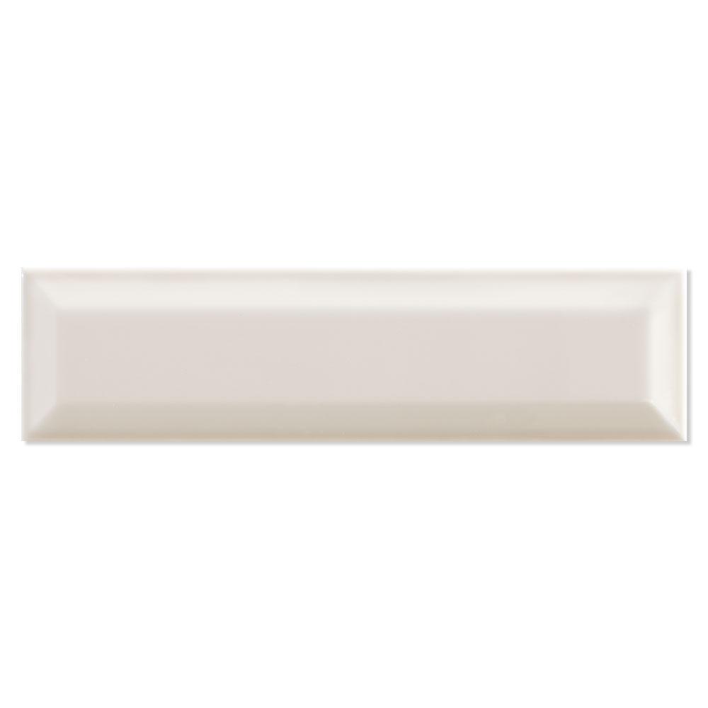 Fasat Kakel Adana Bevel Beige-Cream Blank Rund 8x30 cm
