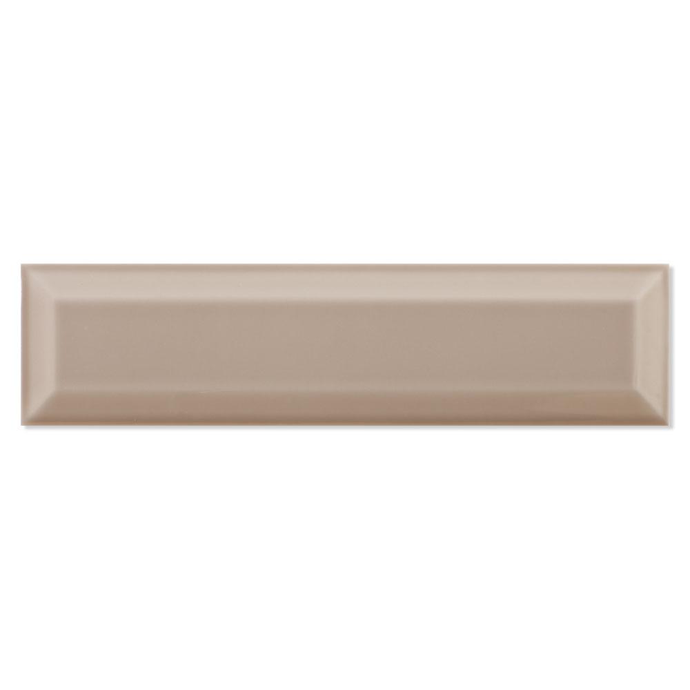 Fasat Kakel Adana Bevel Mörkbrun Blank Rund 8x30 cm