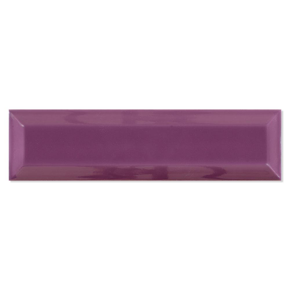 Fasat Kakel Adana Bevel Violet Blank Rund 8x30 cm