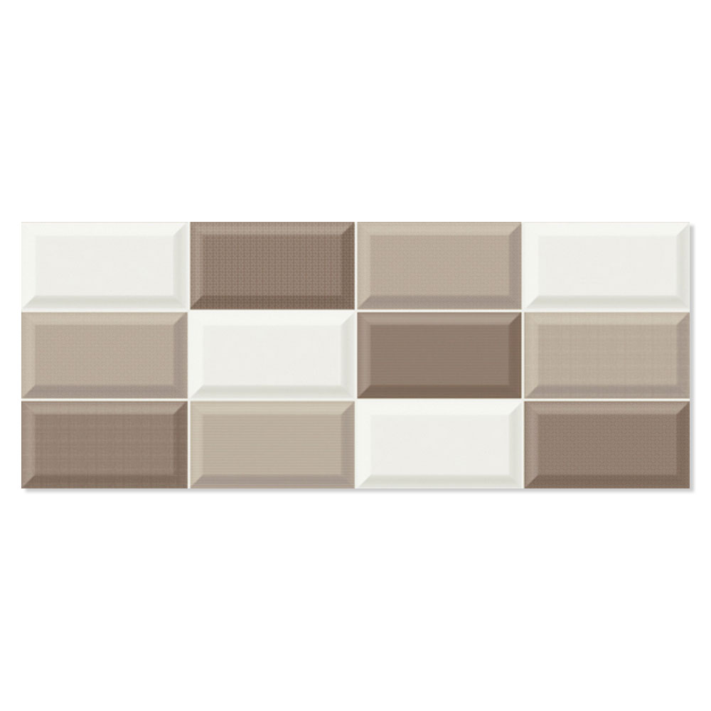 Kakel Batim Brun-Ljusbrun-Beige Blank Fasat Rund 20x50 cm